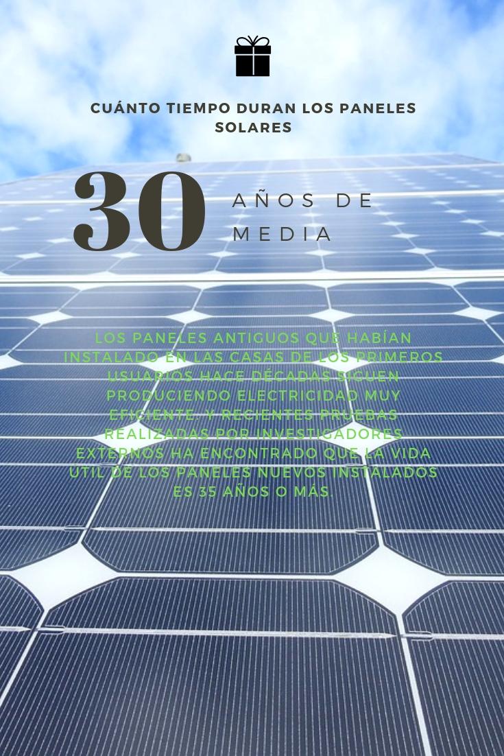 la vida útil de los paneles solares