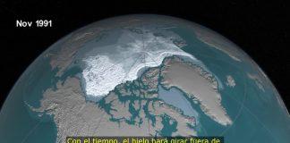 Polo Norte se esta derritiendo vídeo de la NASA