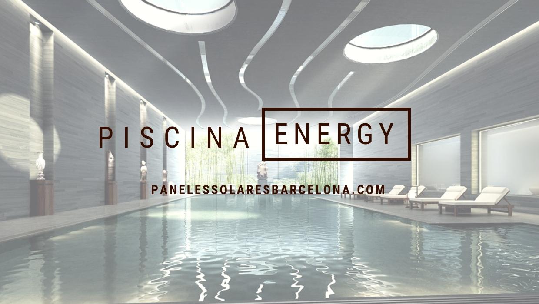 energía con paneles solares para el agua de la piscina