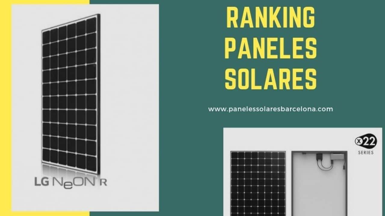 Los Mejores Paneles Solares del mercado Ranking