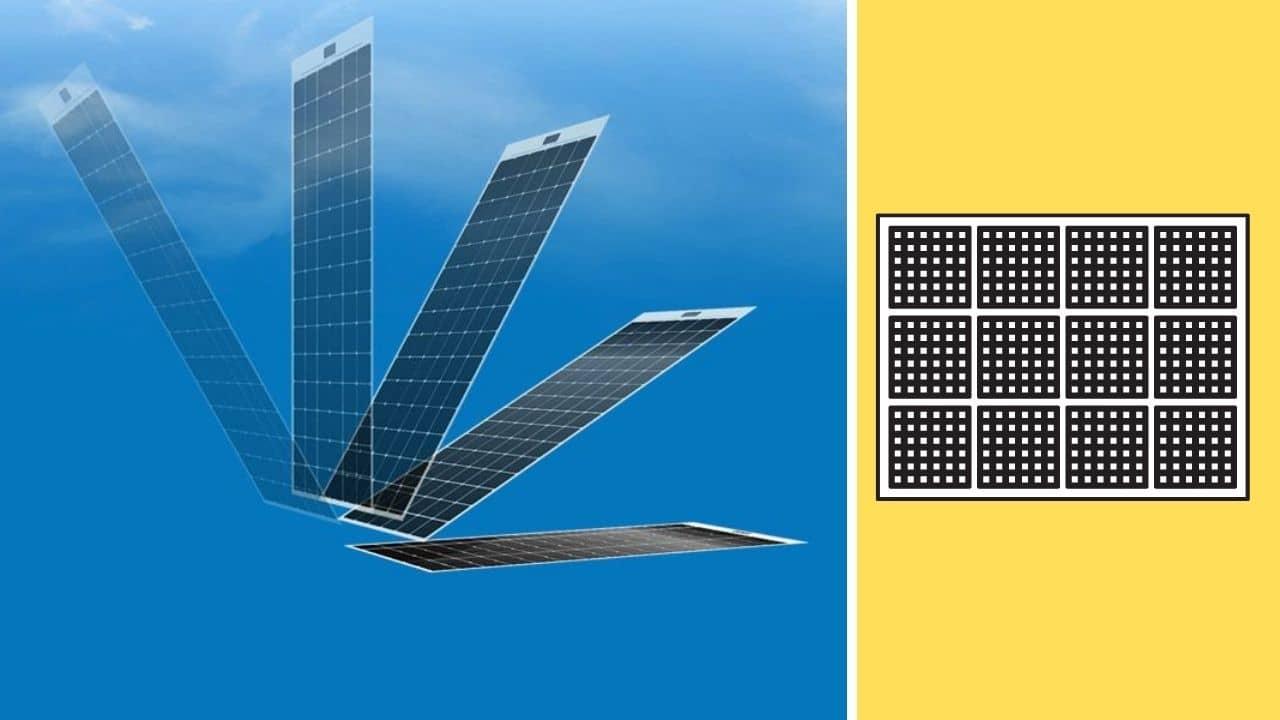 Paneles solares sin marco que se pegan directamente en los tejados
